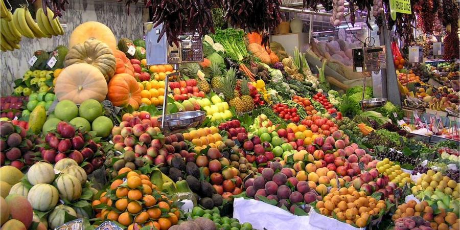 Mercado frutas